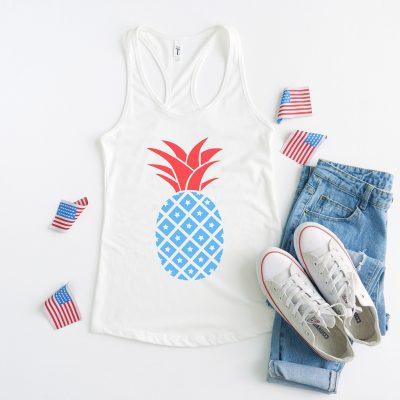 Free Patriotic Pineapple SVG