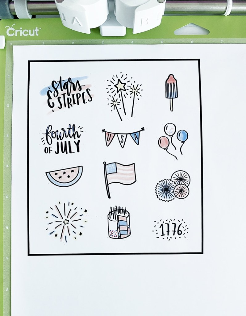 4th of July Printable Patriotic Stickers by Pineapple Paper Co.
