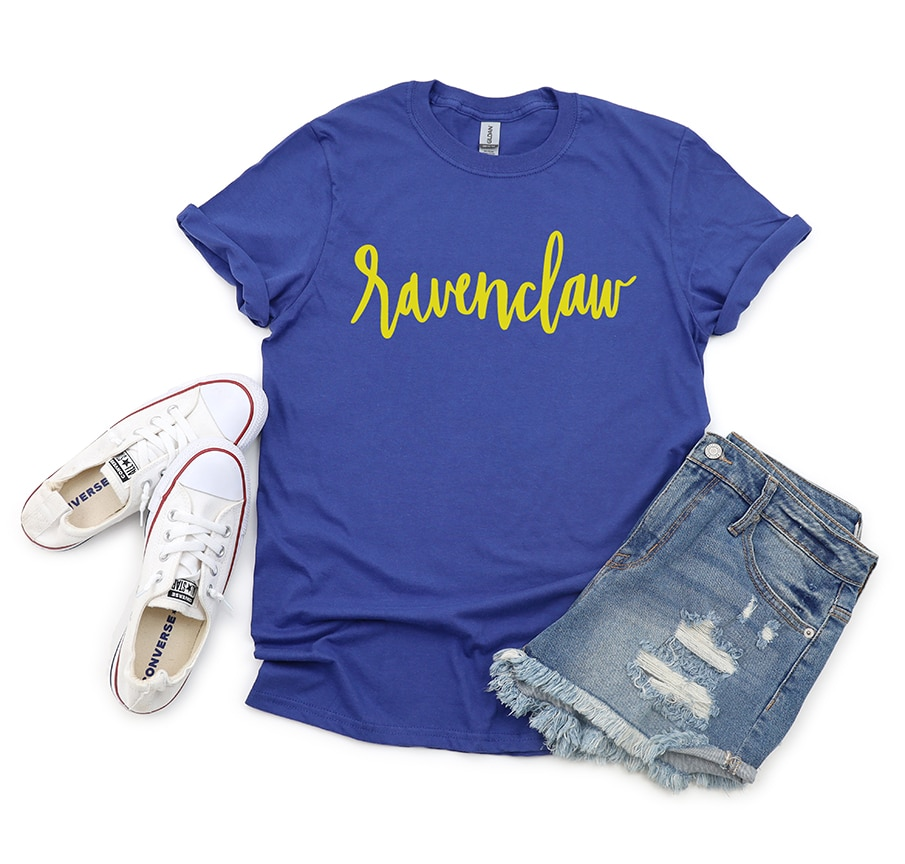 Ravenclaw Shirt with Handlettered Hogwarts House SVG File by Pineapple Paper Co.
