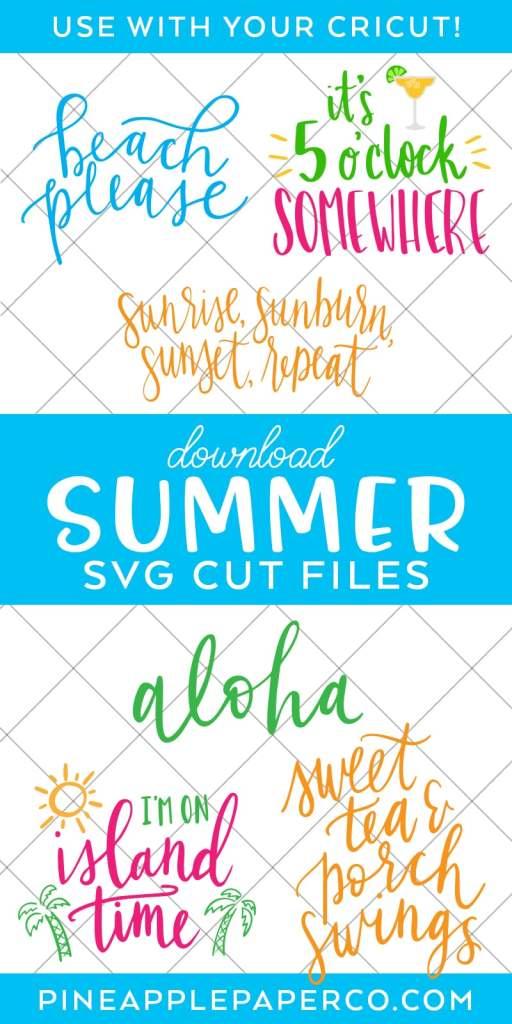 Summer SVG Files for Cricut