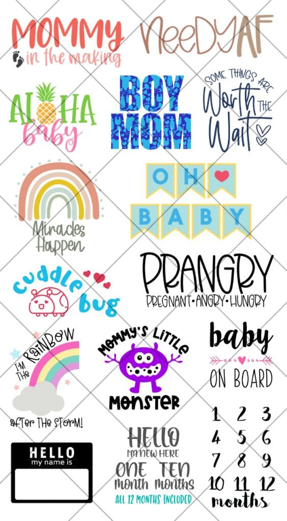 15 Free Baby SVG Files with Aloha Baby SVG for Luau Baby Shower by Pineapple Paper Co.