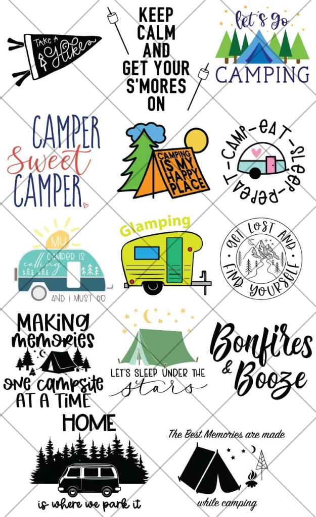 FREE Camping SVG Files for Cricut and Silhouette