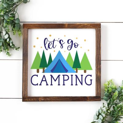 Free Let's Go Camping SVG