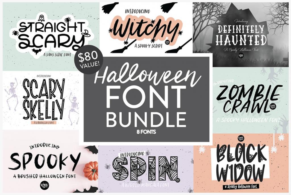 Halloween Font Bundle from FontBundles