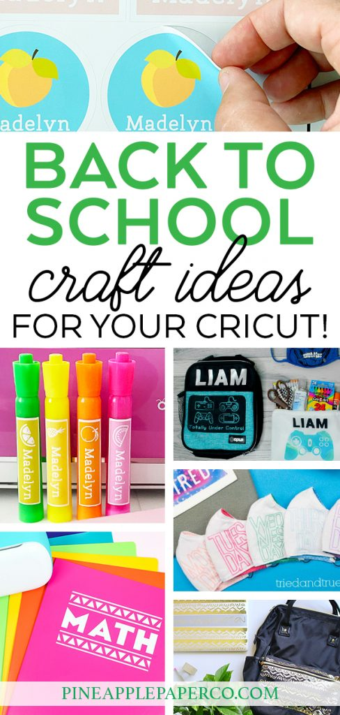 Cricut Back to School Project Ideas at Pineapple Paper Co.