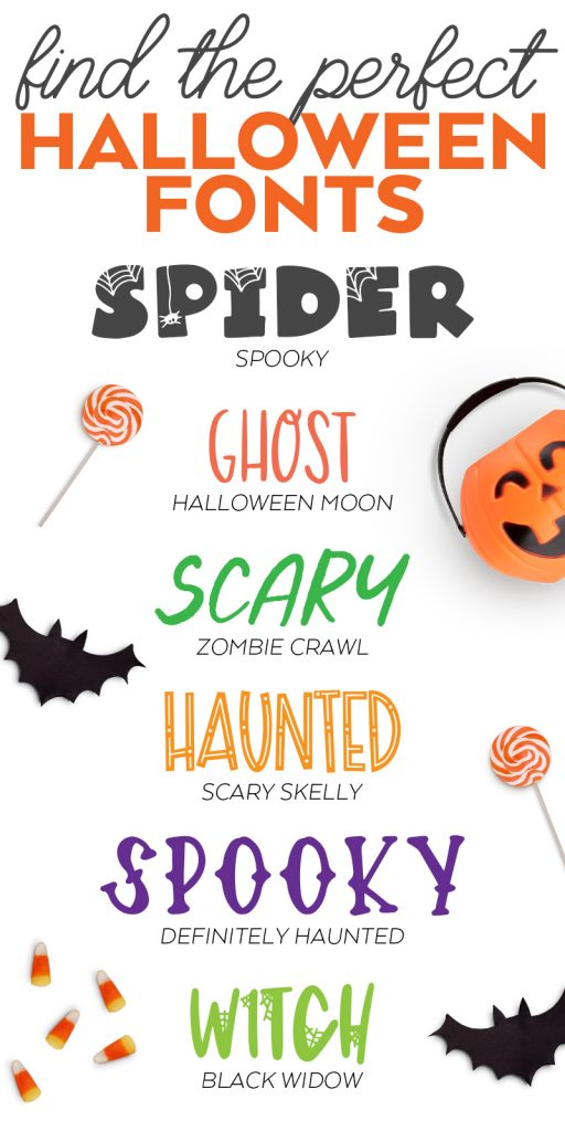 Commercial Use Halloween Fonts for Cricut and Printables