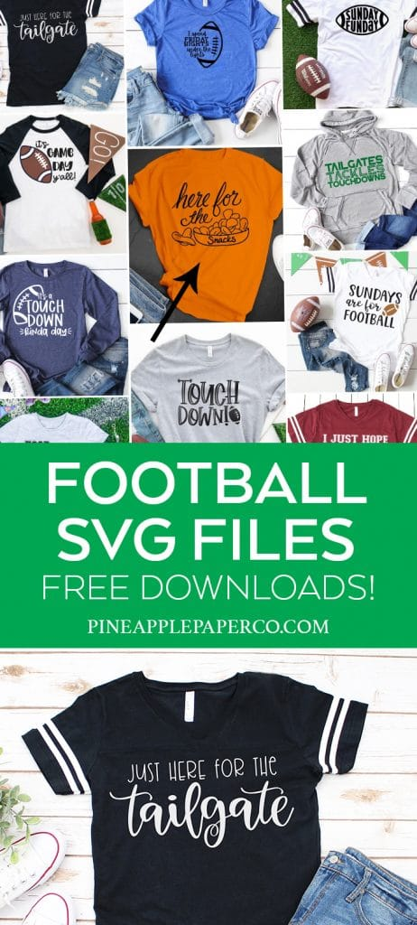 Free Just Here for the Tailgate SVG File for Cricut and Silhouette by Pineapple Paper Co.