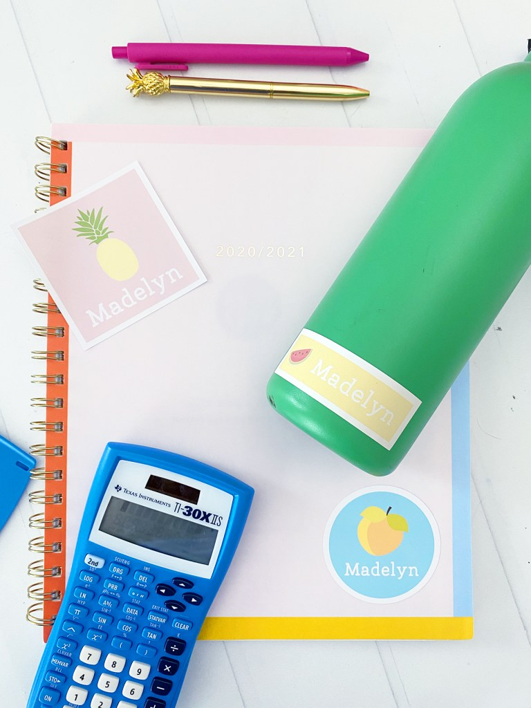 Print then Cut Cricut Personalized Back to School Supplies