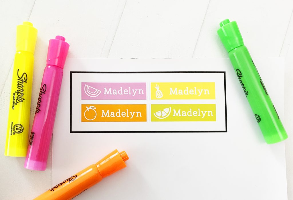 Custom Highlighter Labels with Cricut Print then Cut
