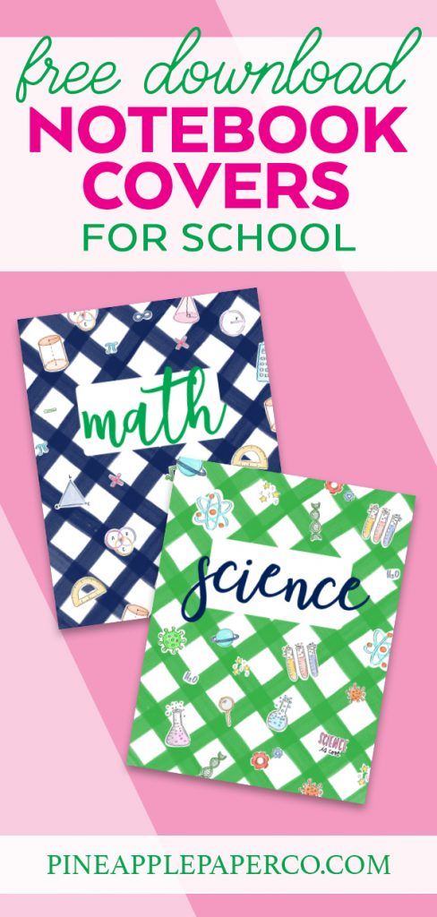 Printable Math and Science Notebook Covers with FREE Stem Printables at Pineapple Paper Co.