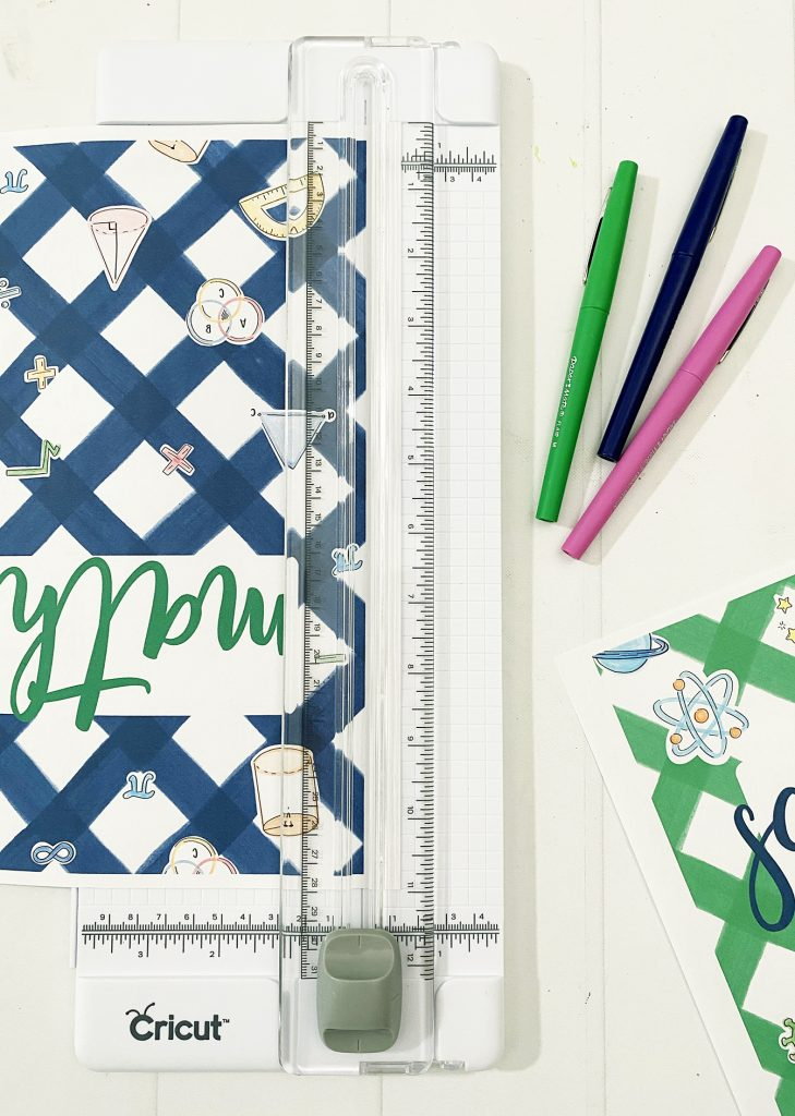Printable Math Notebook Cover Paper Trimmer