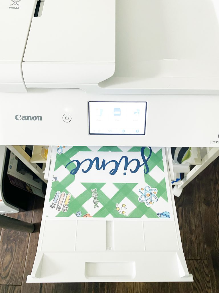 Science Notebook Cover Printing on Canon Printer