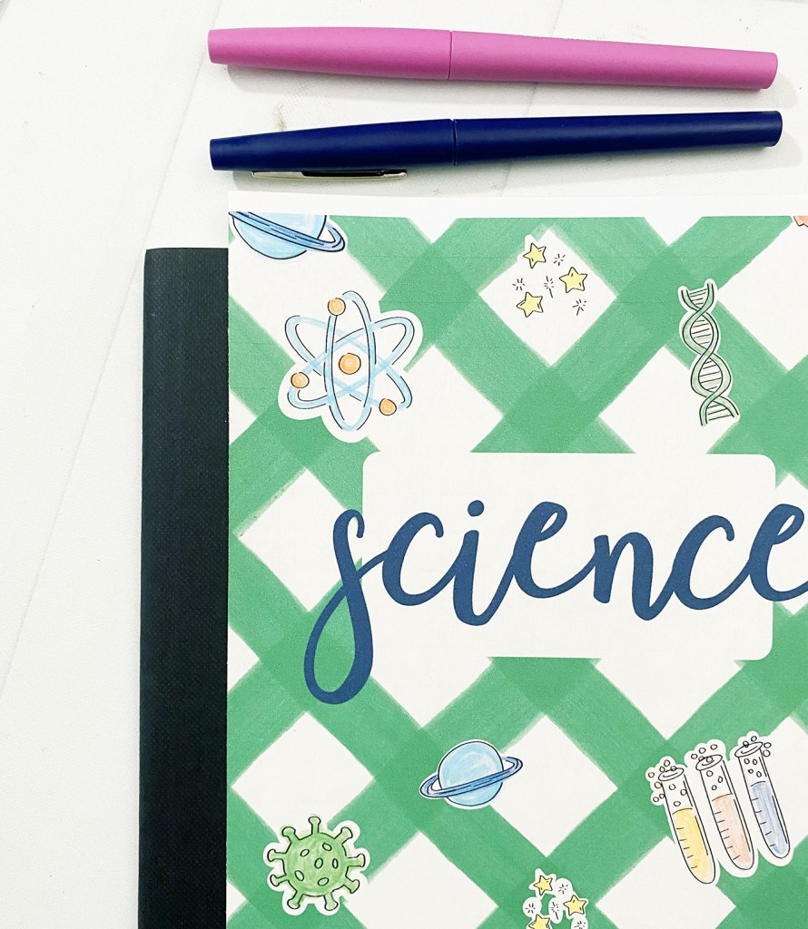 Science Notebook Cover Printable