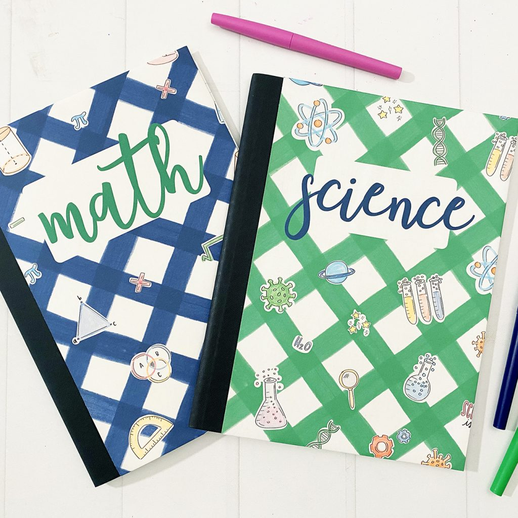 Math and Science Notebook Covers Printables