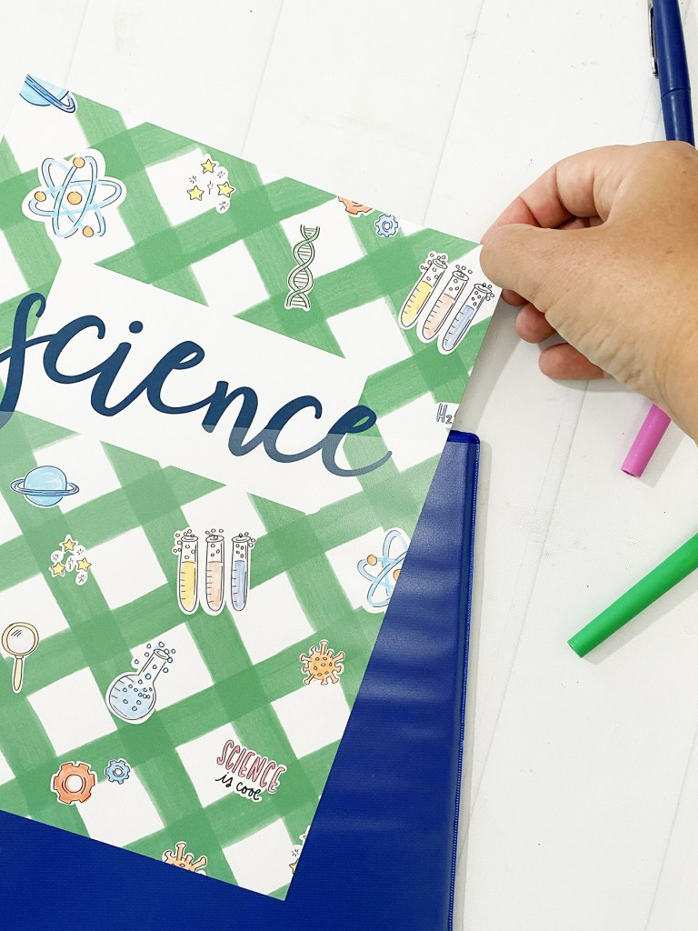 Science Binder Cover Printable
