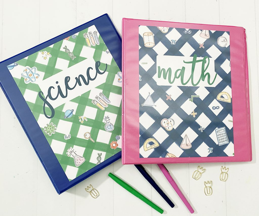 Math and Science Printable Binder Covers