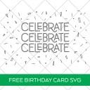 Celebrate Single Line SVG