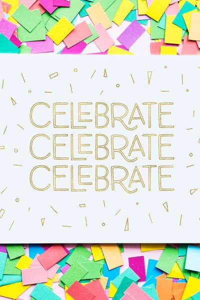 DIY Gold Foil Celebrate Birthday Card by Pineapple Paper Co.