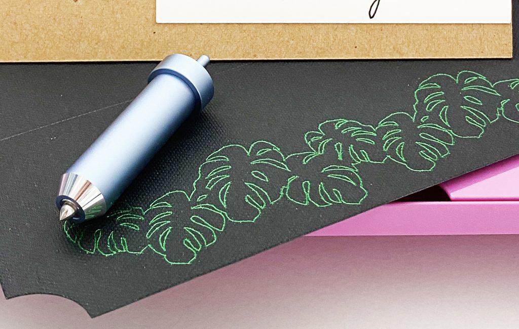 Monstera Leaves on Envelope