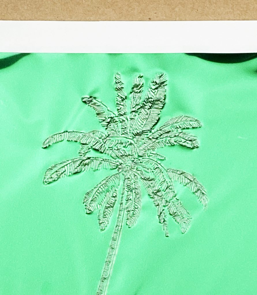 Palm Tree Made with Cricut Foil Transfer System