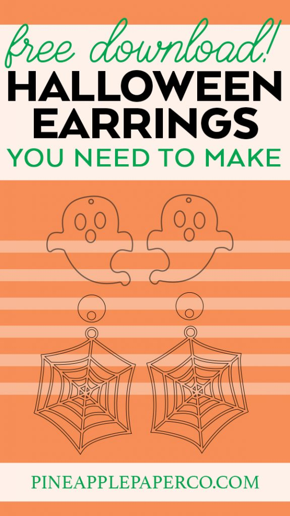 DIY Ghost and Spiderweb Earrings for Halloween using the Glowforge or Cricut