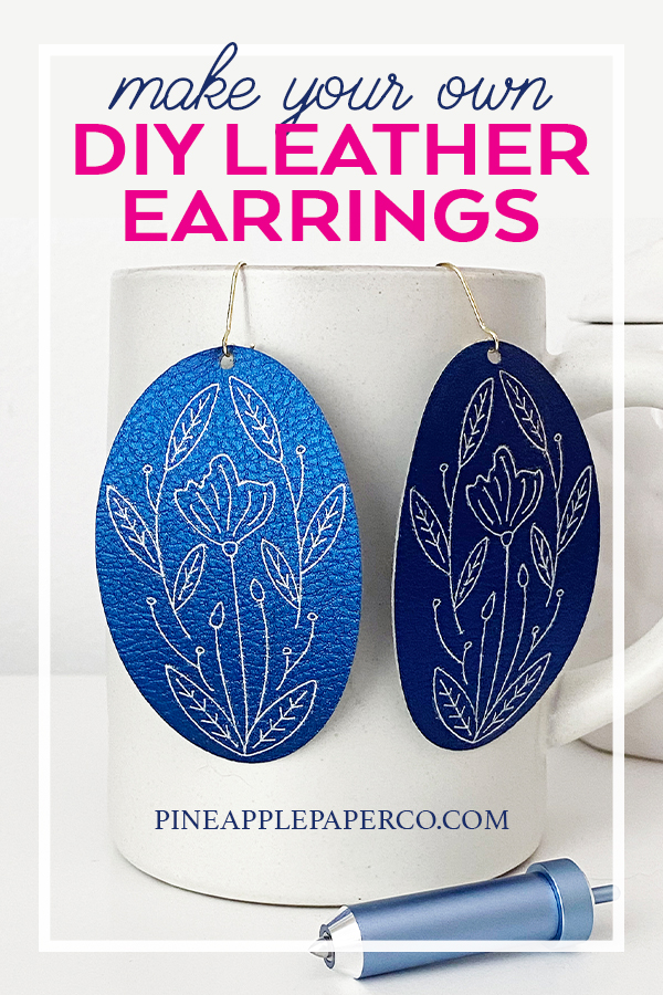 DIY Leather Earrings with Foil by Pineapple Paper Co.