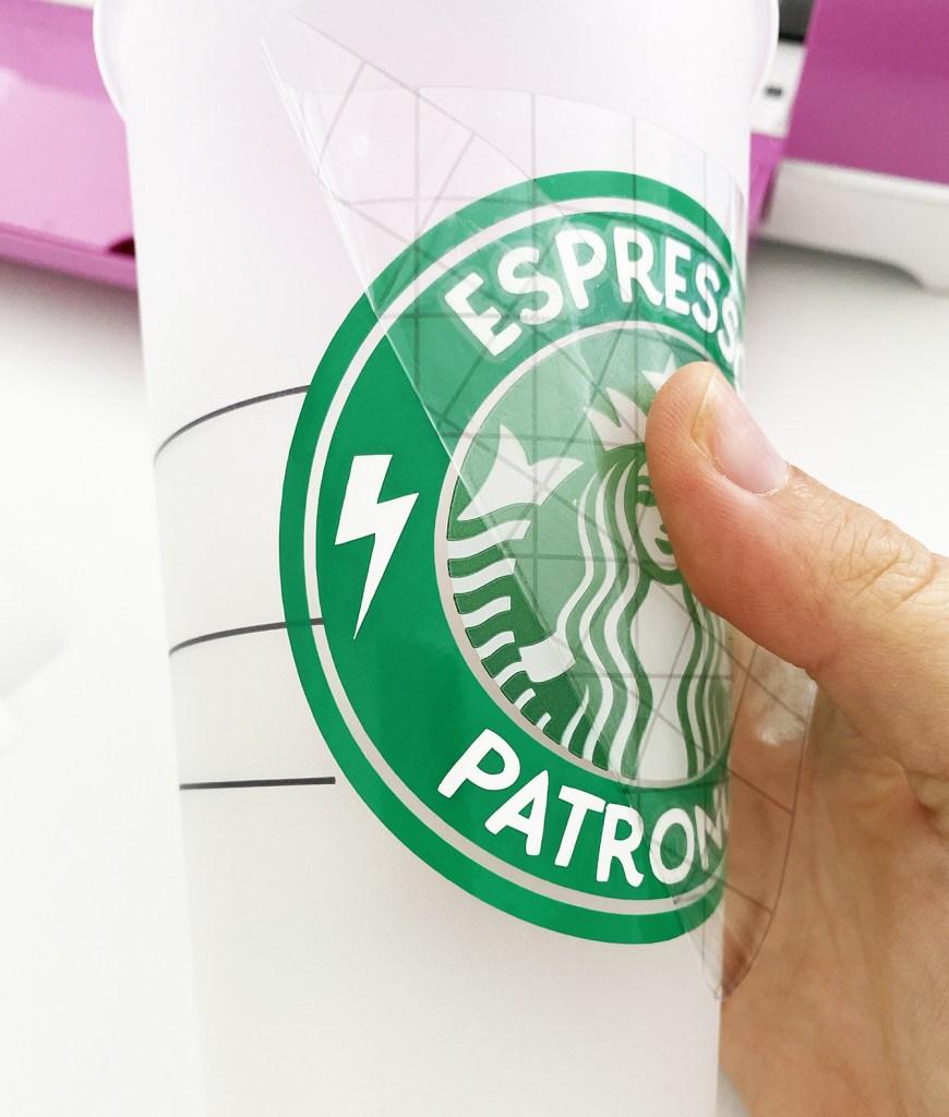 Using Transfer Tape to Apply Free Harry Potter Espresso Patronum Starbucks SVG