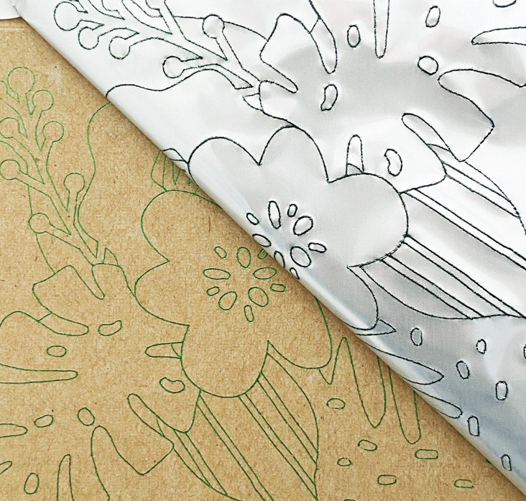 Flower Foil Reveal using Cricut Foil Transfer System