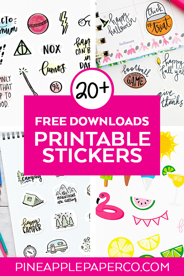 20+ FREE Printable Sticker Sheets to Download