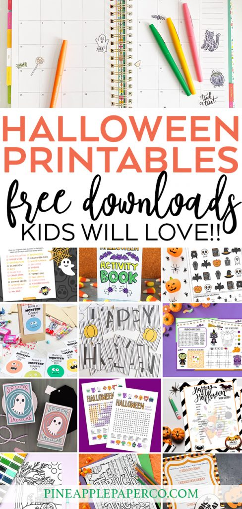 Free Halloween Printables at Pineapple Paper Co.