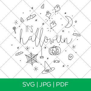 Halloween Single Line SVG for Cricut and Silhouette at Pineapple Paper Co.