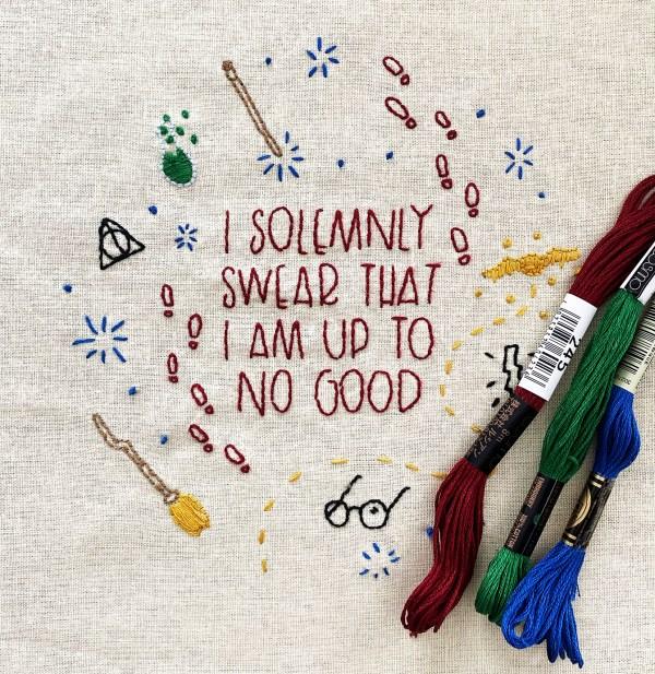 Harry Potter Embroidery Pattern