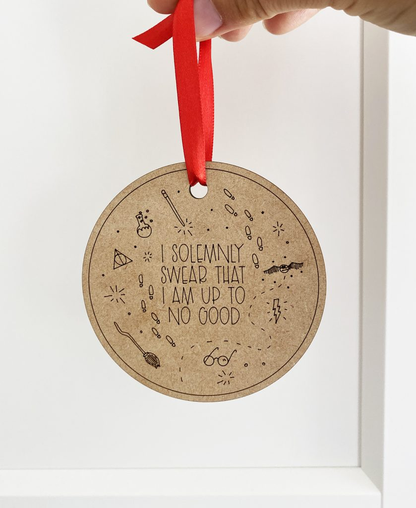 Harry Potter Laser Cut Ornament with Glowforge
