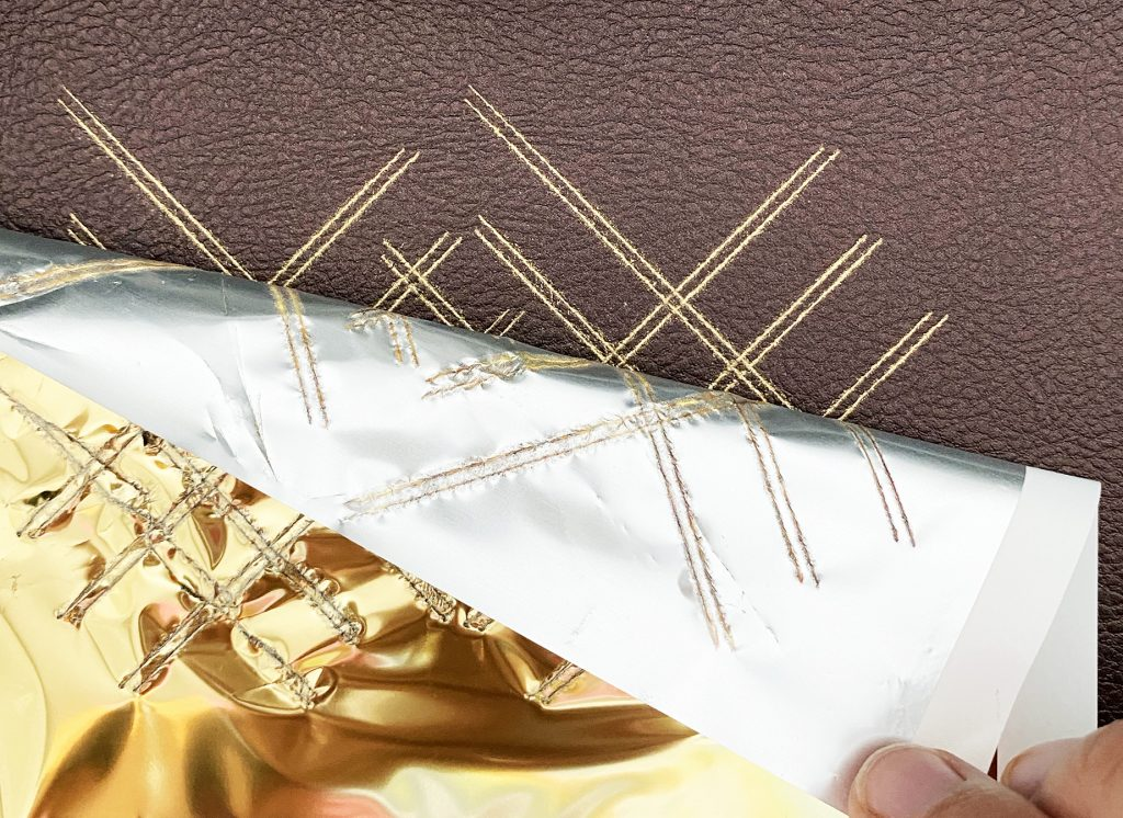 Removing Cricut Foil from Faux Leather