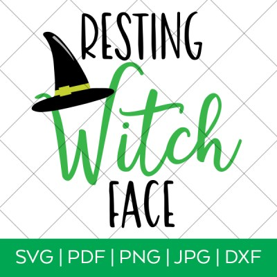 Resting Witch Face Halloween SVG