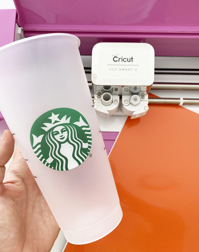 How to Make a Label with your Cricut for a Starbucks Cold Cup