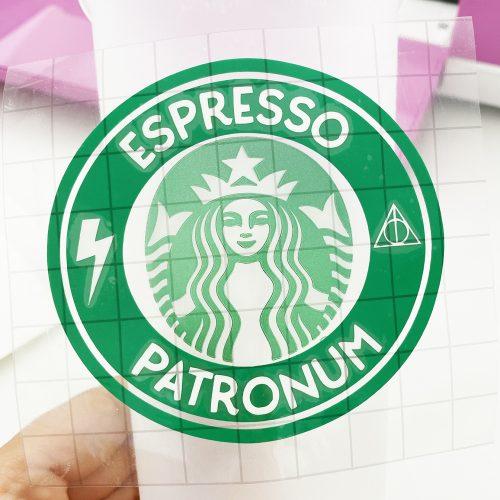 Applying Free Harry Potter Espresso Patronum Starbucks SVG