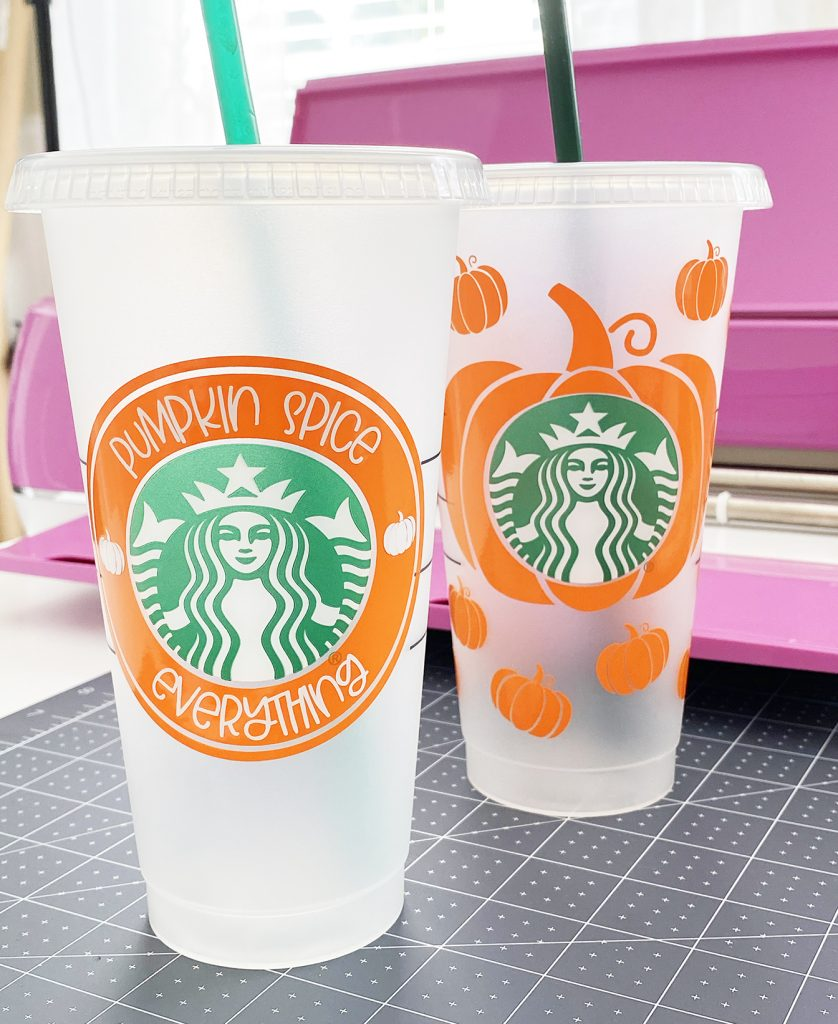 FREE Pumpkin Spice Starbucks Cup SVG Files at Pineapple Paper Co.