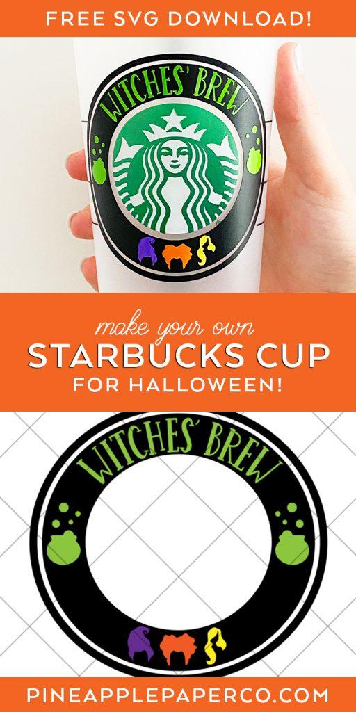 DIY Hocus Pocus Halloween Starbucks Cold Cup SVG