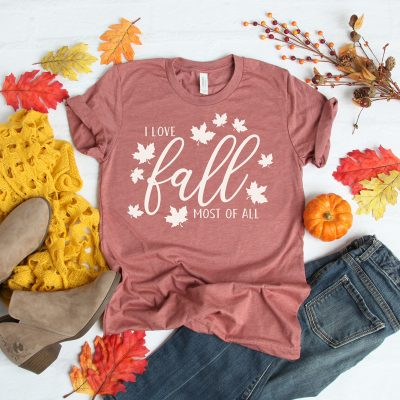 Free I Love Fall Most of All SVG File