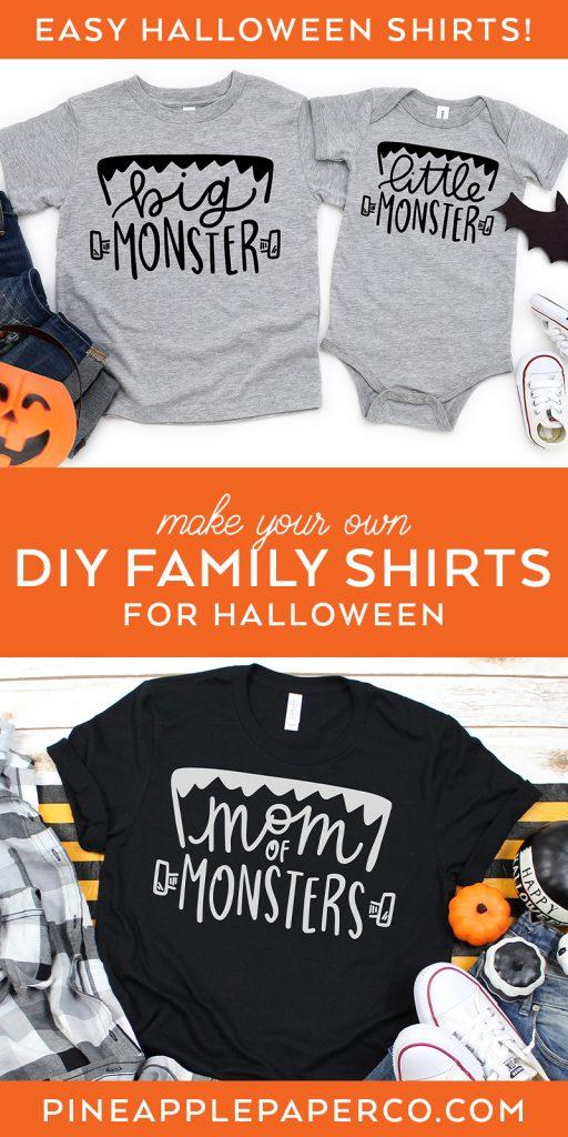 DIY Family Halloween Shirts with your Cricut