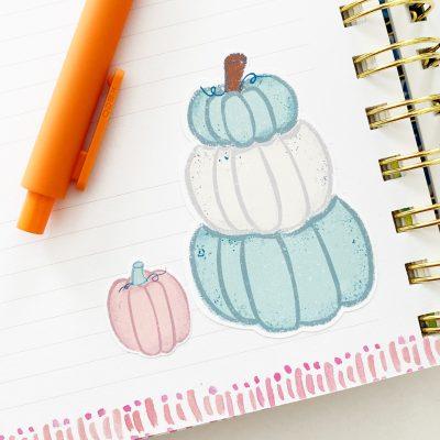Free Printable Pumpkin Stickers