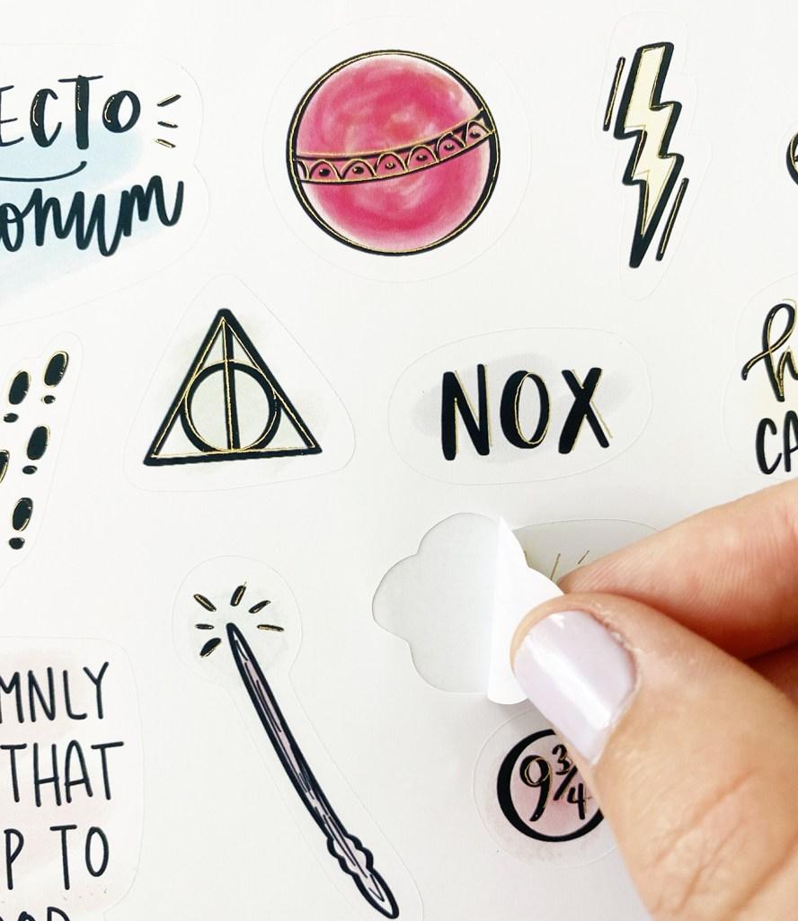 DIY Foil Harry Potter Stickers