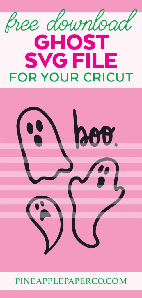 Free Ghost with Boo Halloween File