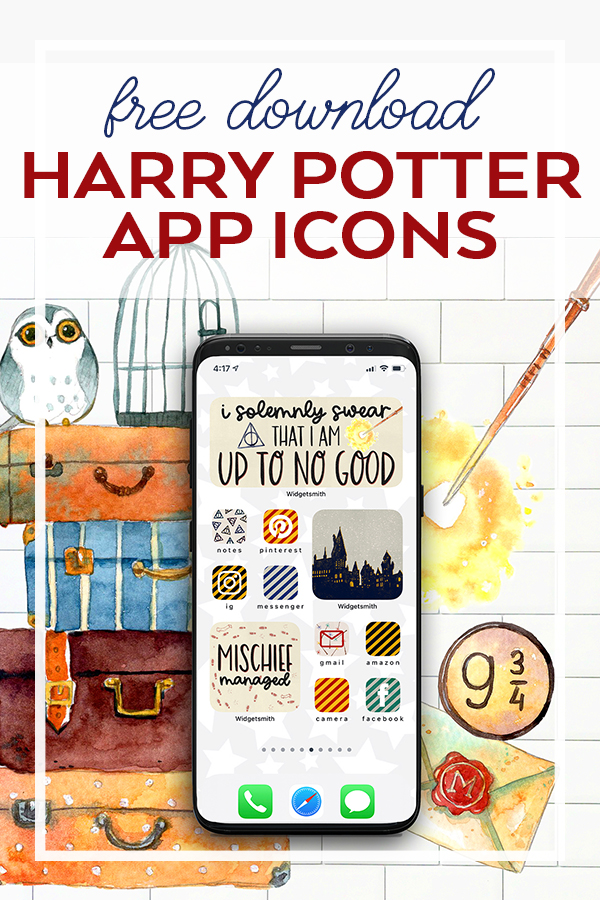 Free Harry Potter iPhone Icons for Harry Potter Aesthetic Home Screen. FREE Download!