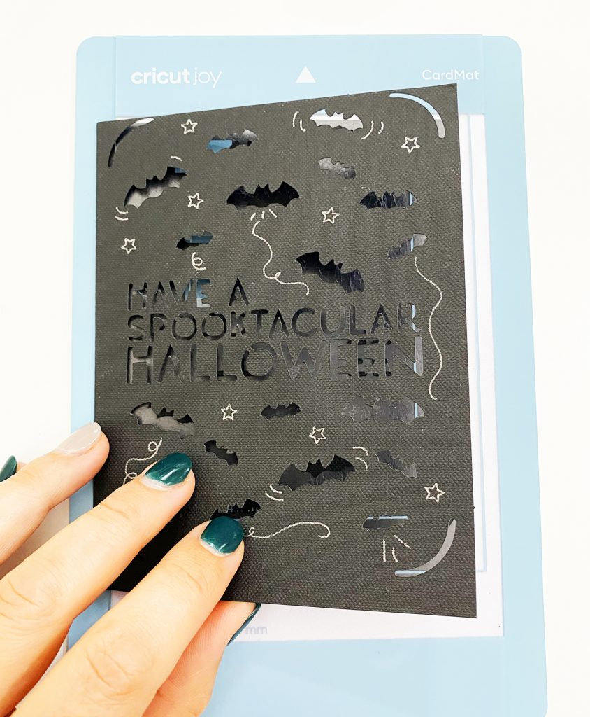 DIY Halloween Card with Cricut Joy Card Mat