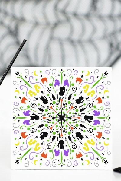DIY Halloween Mandala Sign with FREE Mandala for your Cricut and Silhouette
