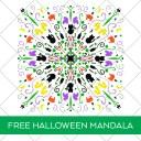 Free Hocus Pocus Halloween Mandala SVG