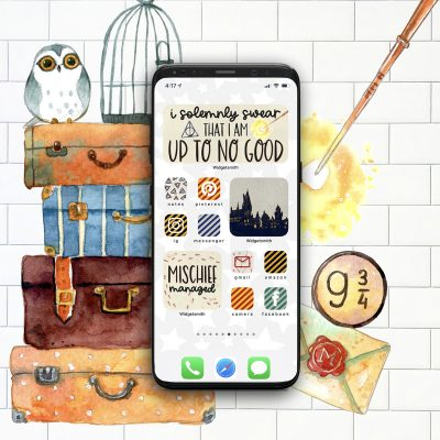 Free Harry Potter Aesthetic Widget and App Icons