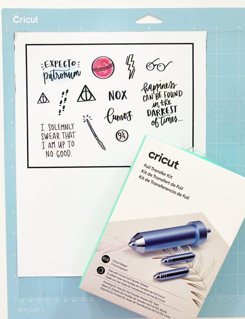 Print then Cut Printable Stickers and Cricut Foil Transfer Kit